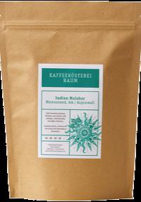 Kaffeerösterei Baum Röstung Indien Malabar