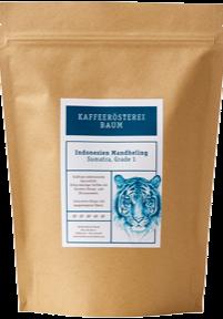 Kaffeerösterei Baum Röstung Indonesien Mandheling