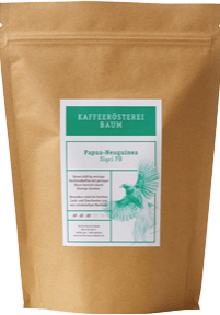 Kaffeerösterei Baum Röstung Papua Neuguinea